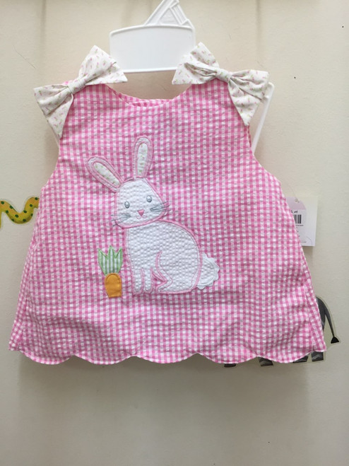 Petit Ami    Top/Bloomer Easter Rabbit App.  Pink