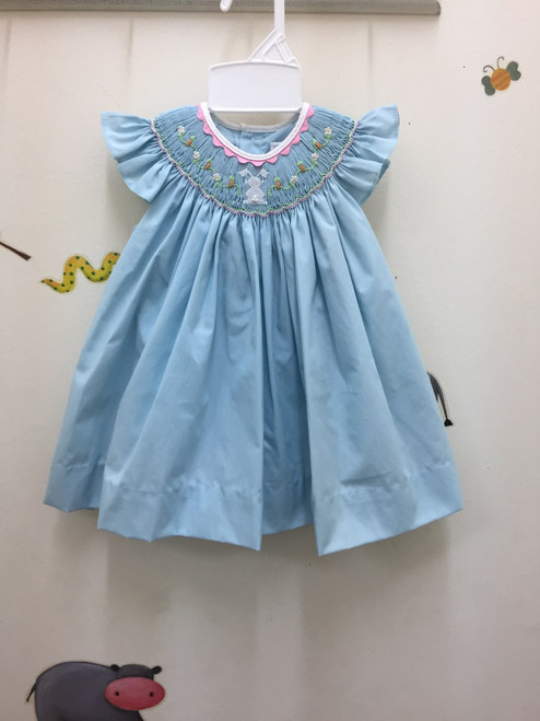 Petit Ami     Dress Easter app. Rabbit  Blue