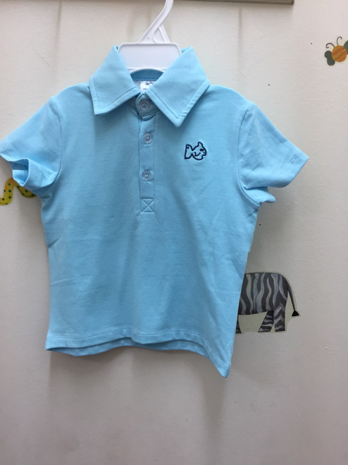 Prodoh VENTED KNIT POLO IN CASTAWAY