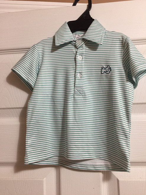 Prodoh Green vented Performance Polo in  Stripe