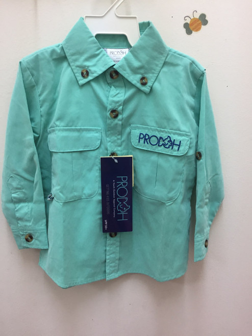 Prodoh Kids   Vented Shirt  Green 132757