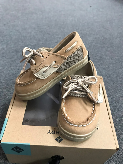 Bluefish Linen Crib Shoe