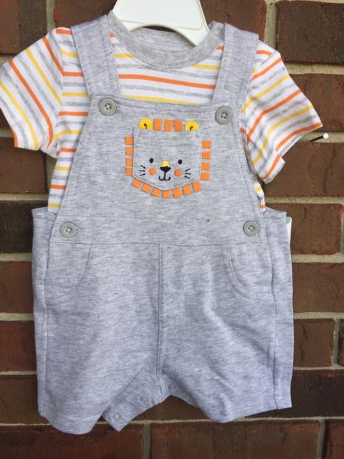 Little Me   knit Shortall Set