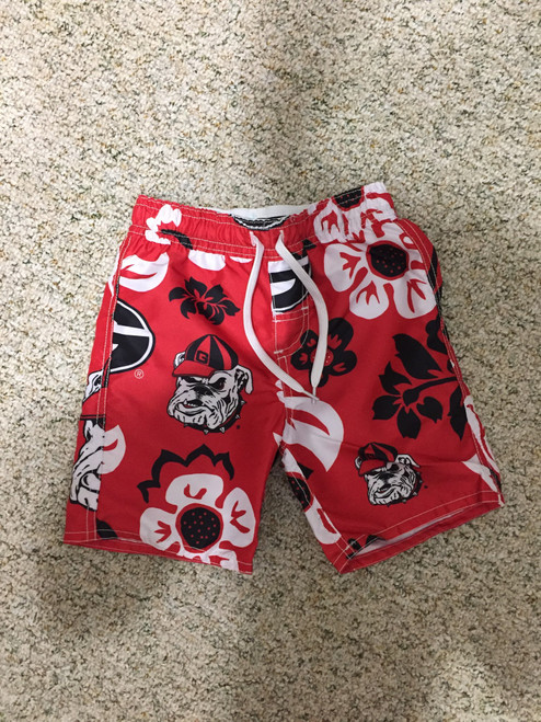 Wes & Willy GA floral volley swim trunk