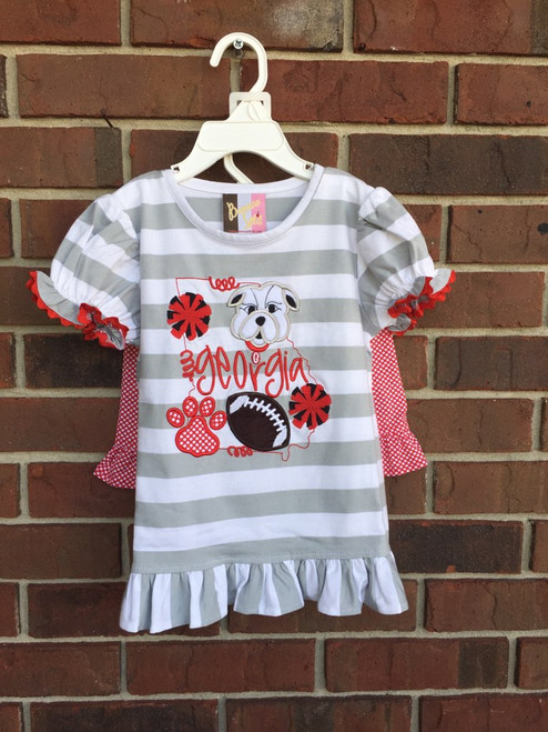 Banana Split Bulldog App. Girl Short Set