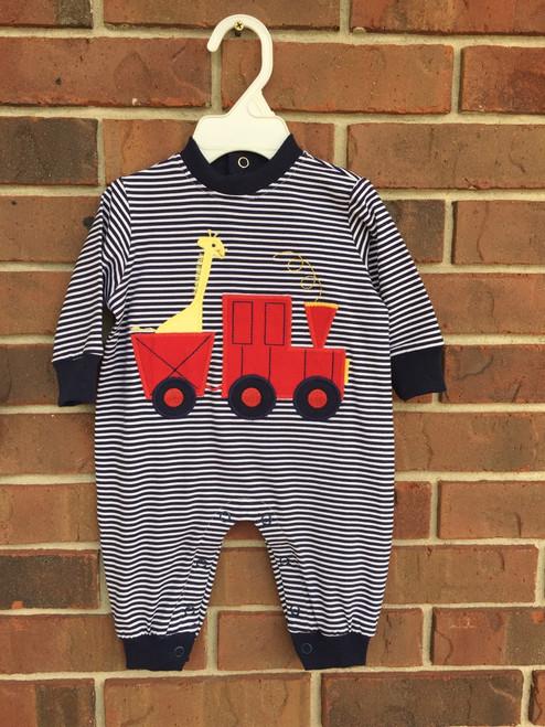 Bailey Boys  Train, Knit Romper