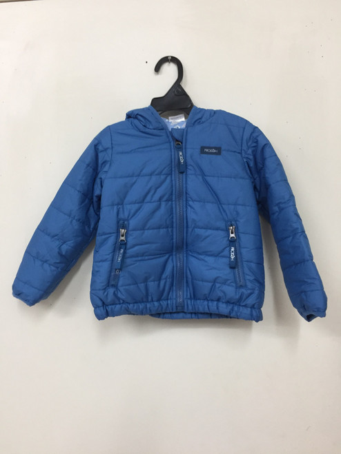 Boys Hooded Puffer Jacket w/Oyster print