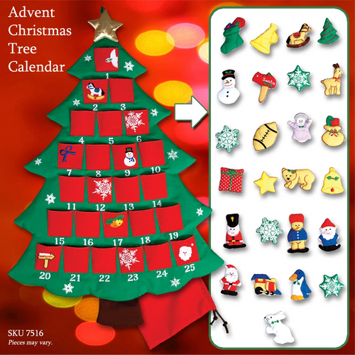 Christmas tree event calendar