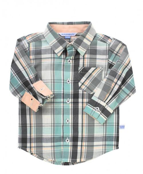 David Plaid Button Down Shirt
