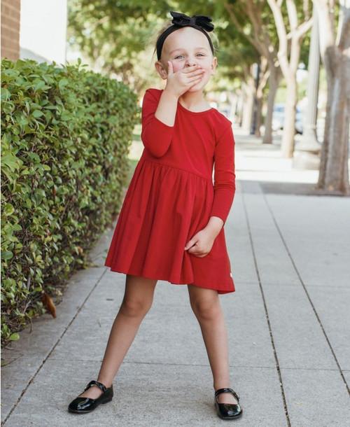 Ruffle Butts  Red Twirl Dress
