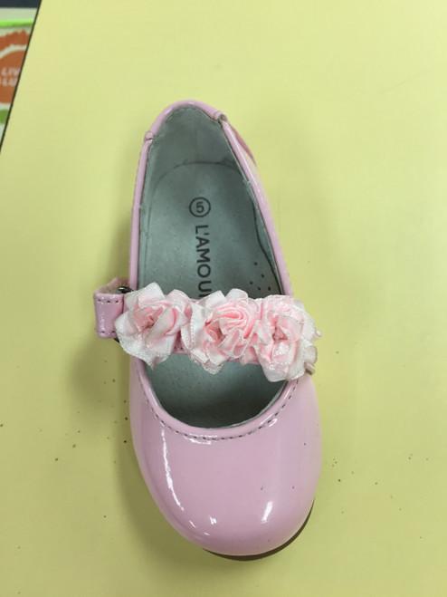 Lamour pink flower shoe