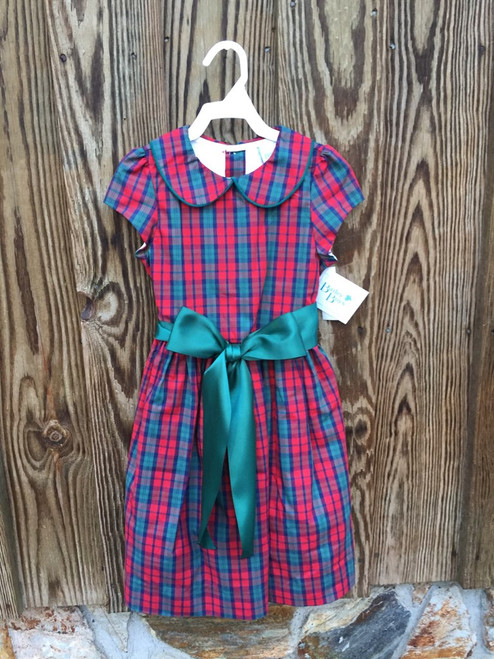 Bailey Boys  December Plaid/Clover Cor Dress