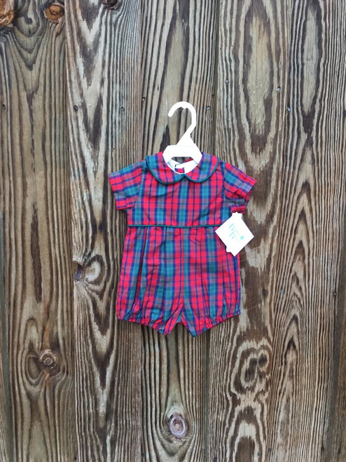 Bailey Boys  December Plaid/Clover Dressy Bub Shor