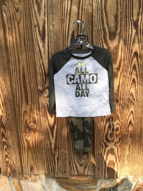 Under ArmourTop & Pant Set All Camo All Day  Gray