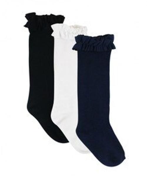 Ruffle Butts  Girl 3 Pack Knee High Socks
