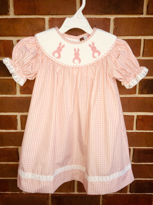 Banana Split  Bunny Smocked S S Bishop