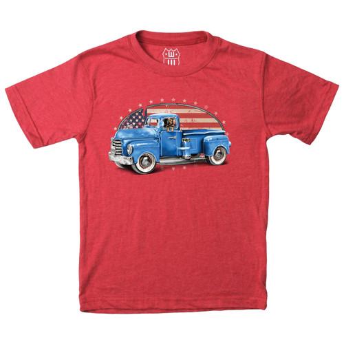 Patriotic truck short sleeve T Shirt