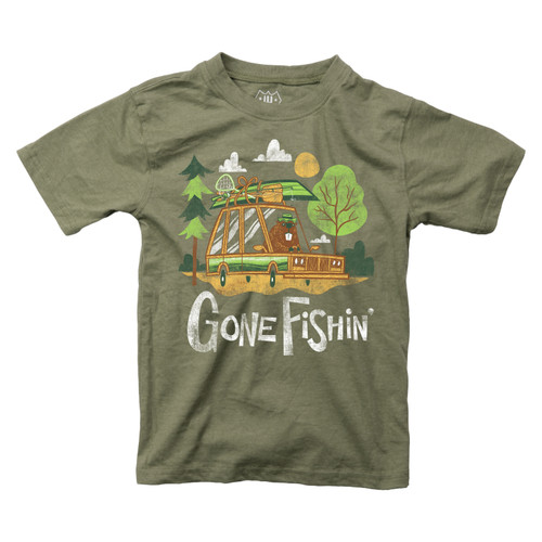 Wes & Willy Gone fishin Short sleeve T shirt