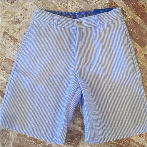 Bailey Boys  Short Sailor Blue Stripe Seersuck