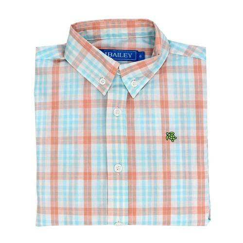 Bailey Boys   Button Down Shirt Seaside Plaid