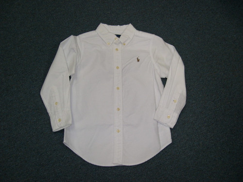 Basic White Long Sleeved buttoned down Shirt