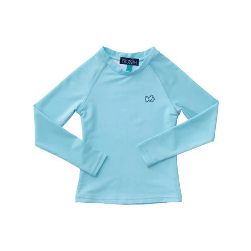Prodoh  Long Sleeve Rash Guard Shirt Light Blue