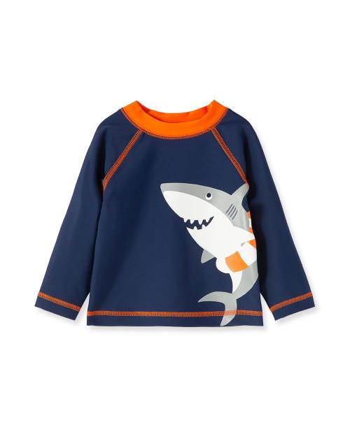 Little Me   Shark LS Rash Guard Shirt