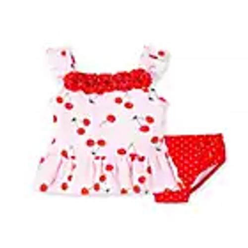 Little Me  Cherry Swim Suit