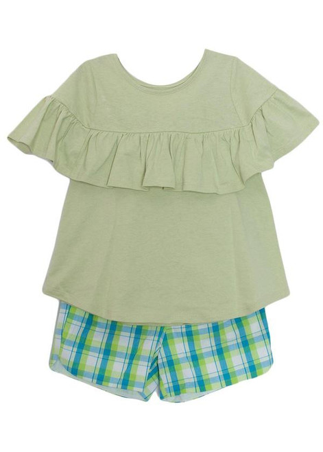 Mable & Honey Green Two Piece Short Set
