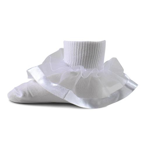 wide ribbon bow socks 1438