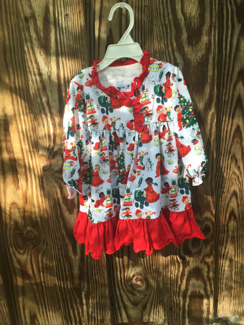 High Cotton Smocked Kids of Christmas Gown