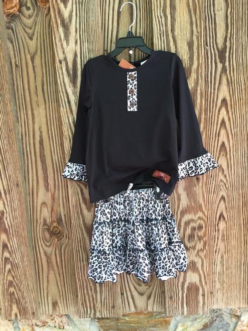 Millie Jay  Leopard Skirt Set