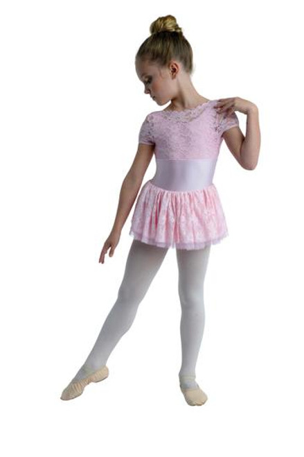 Danzn Motion  Lace Scalloped Cap Sli. Dress