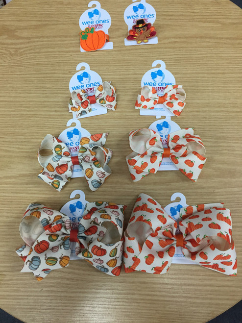 Halloween and thanksgiving hairbows