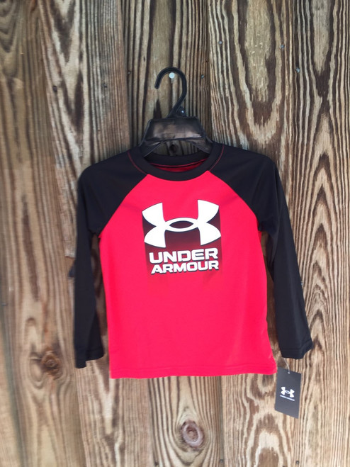 Under Armour, LS Tee Red/Black