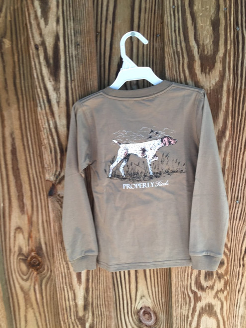 Properly Tied      Pointer L S  Tee