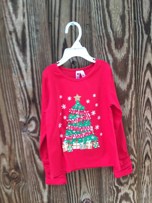 Holiday Christmas Tree Top With Ruching
