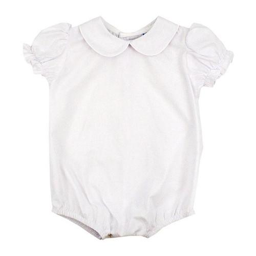 White Button Back, Girls  S/S Onesie