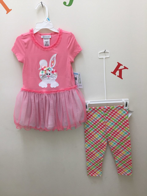 Tunic with legging applique bunny