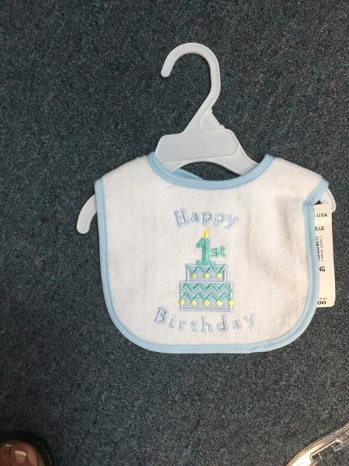 Happy first birthday cake  bib