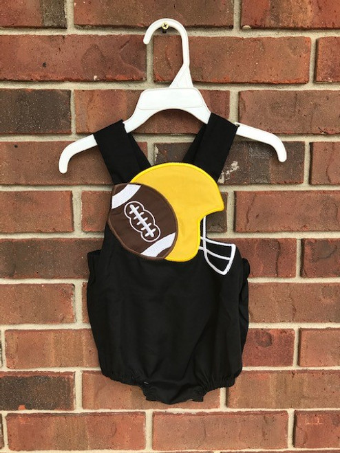 Boys Black and Gold Football Bubble