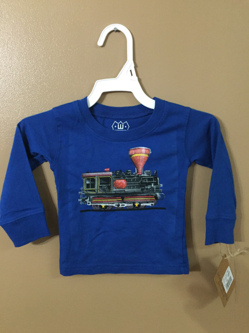 Wes and Willy Royal Blue Train Shirt