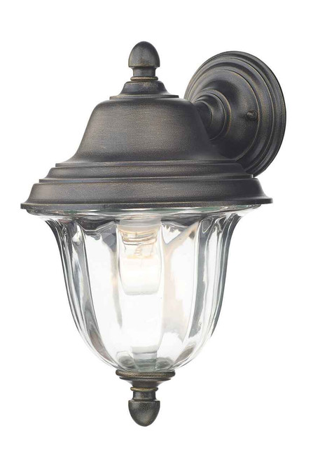Aldgate Black Gold IP44 Outdoor Wall Light