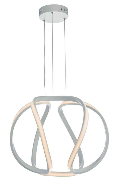 Alonsa Matt White Small LED Pendant Light