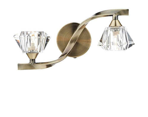 Ancona Antique Brass Double Wall Light