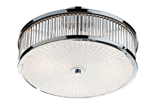 Aramis 3 Light Glass Flush Ceiling Light
