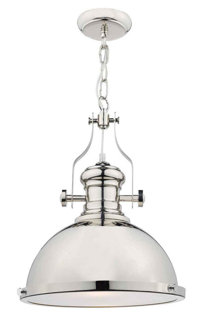 Arona Polished Chrome Industrial Metal Pendant Light