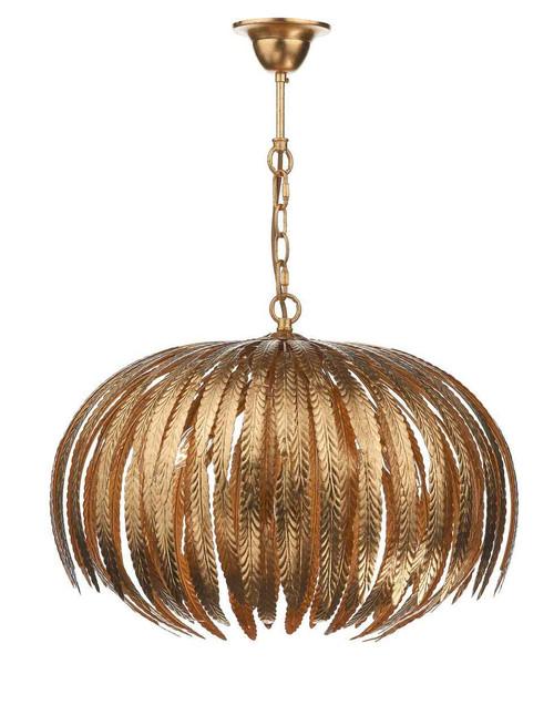 Atticus 5 Light Gold Leaf Pendant Light