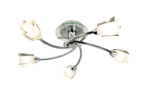 Austin 5 Light Polished Chrome Semi Flush Ceiling Light