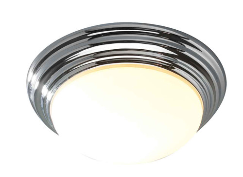 Barclay Polished Chrome IP44 Large Flush Ceiling Light